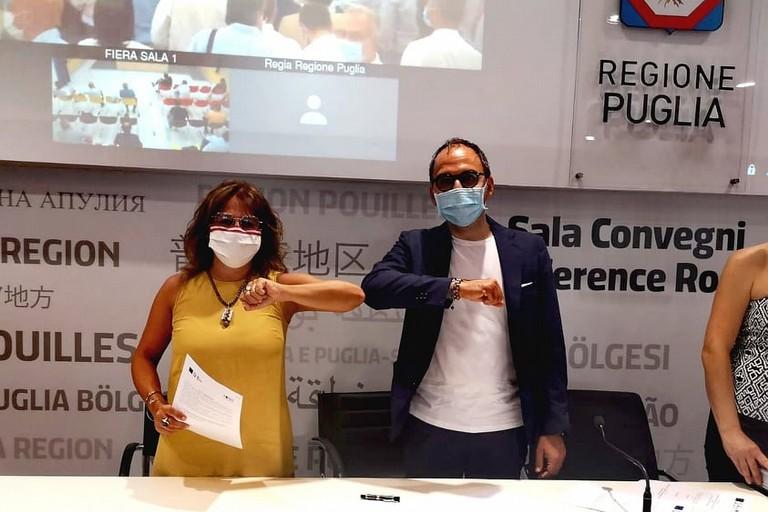 Sottoscrizione dell'accordo - Filograno e Piemontese