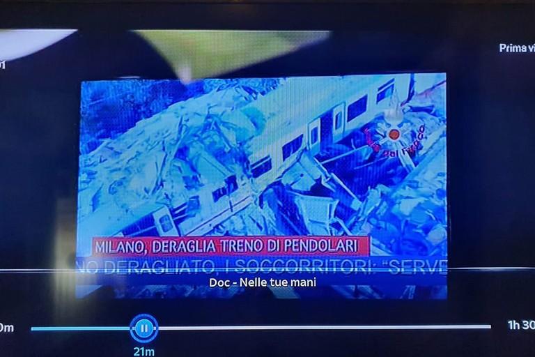 Immagini disastro ferroviario