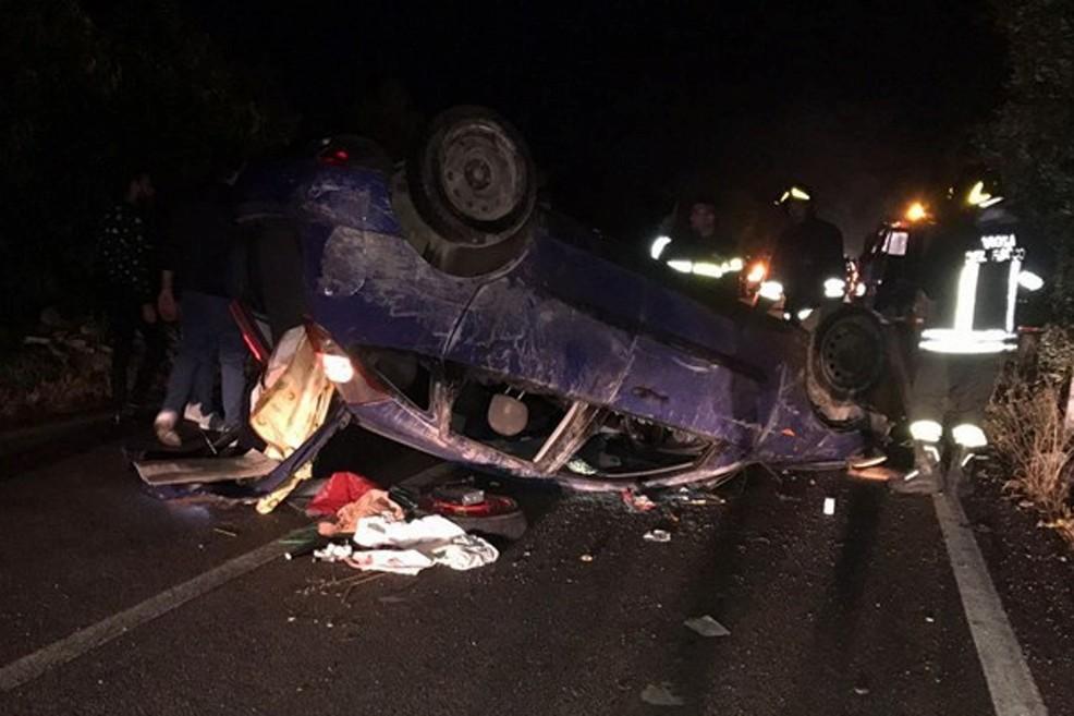 L'incidente sulla strada provinciale per Molfetta