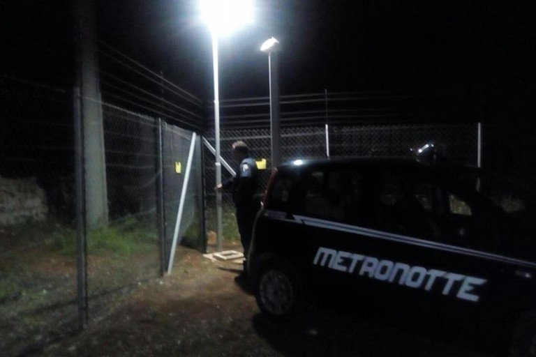 L'intervento della Metronotte