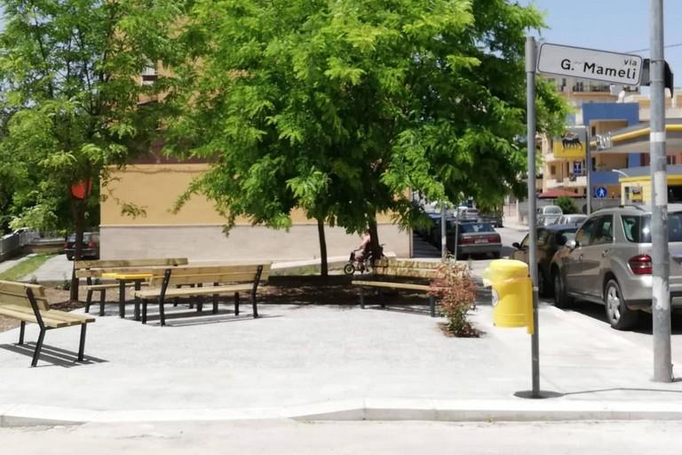 Realizzata una isola verde tra via Corato e via Mameli