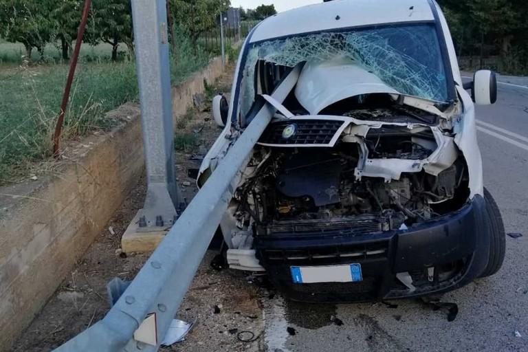 L'incidente stradale avvenuto sulla strada provinciale 22