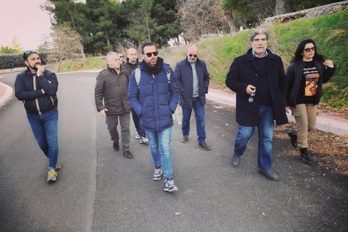 Il sindaco Pasquale Chieco a Calendano