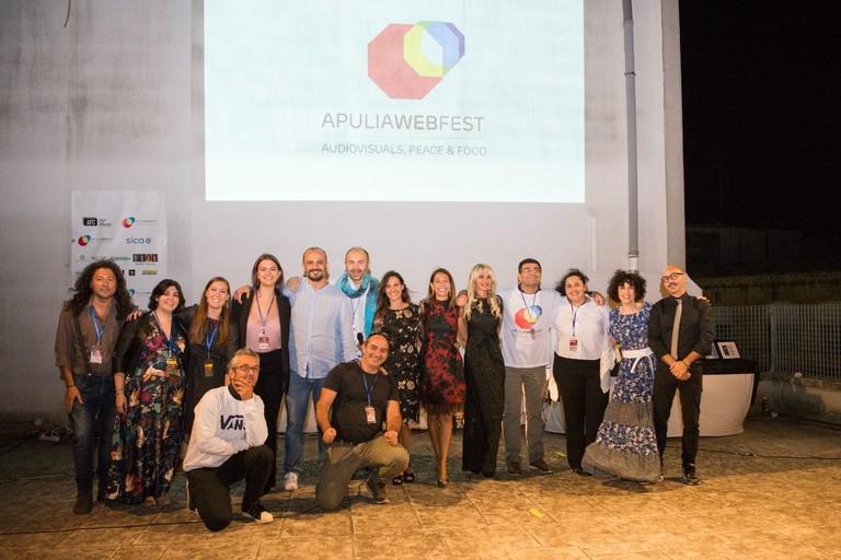 Lo staff al completo di Apulia Web Fest 2021. <span>Foto Gianluca Ciuccio </span>