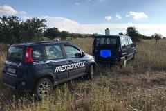 Due auto rubate rinvenute sulle Murge di Ruvo di Puglia