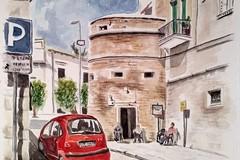 I colori del centro storico di Ruvo nella mostra di Lella Camerino