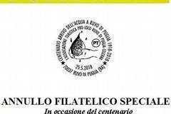 Annullo filatelico speciale per il centenario dell'arrivo dell'Acqua a Ruvo di Puglia