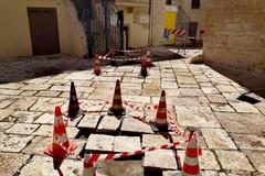 Avviata la manutenzione delle basole nel centro storico di Ruvo
