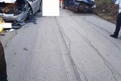 Schianto tra automobili sulla vecchia Ruvo - Corato