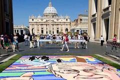 Infiorata storica di Roma in onore del Papa, la Pro Loco di Puglia c'è