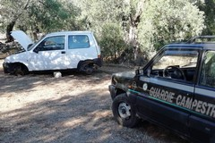 Auto rubate e incendiate ritrovate dalle Guardie Campestri