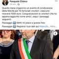 «Regalo 1000 euro», su Facebook spunta un profilo fake del sindaco Pasquale Chieco
