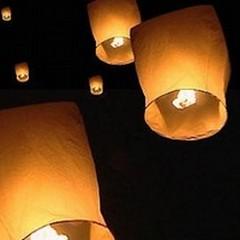 Questa sera ballon art e lanterne in cielo