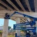 Controlli per il ponte cavalca-ferrovia in zona industriale