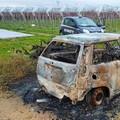 Auto rubata a Molfetta ritrovata incendiata a Ruvo