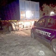 Folle inseguimento tra Ruvo, Altamura e Terlizzi: sventato il furto di un camion