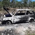 Tre auto rubate e date alle fiamme rinvenute nell'agro tra Terlizzi e Ruvo di Puglia