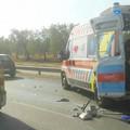 Incidente sulla sp 231: camion travolge ambulanza e pattuglia polizia locale di Ruvo - LE FOTO