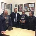 Spina: «Emozionato dall'incontro coi partigiani di Ruvo di Puglia»
