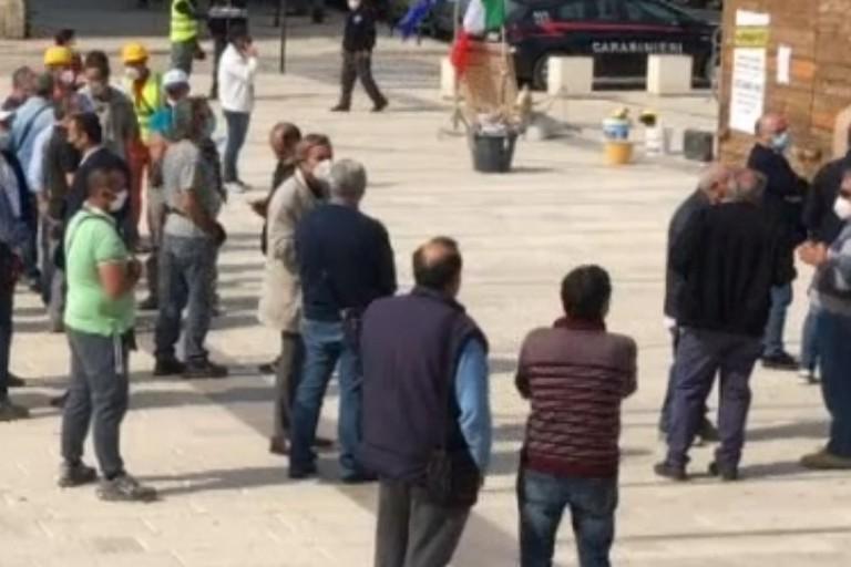 Protesta edili a Ruvo di Puglia