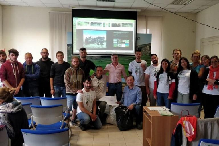I giovani del progetto Erasmus+ al Parco Nazionale dell'Alta Murgia
