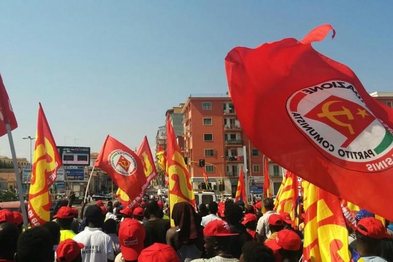 Manifestazione contro lo sfruttamento del lavoro
