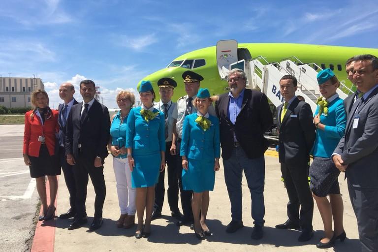 Inaugurazione volo Bari - Mosca