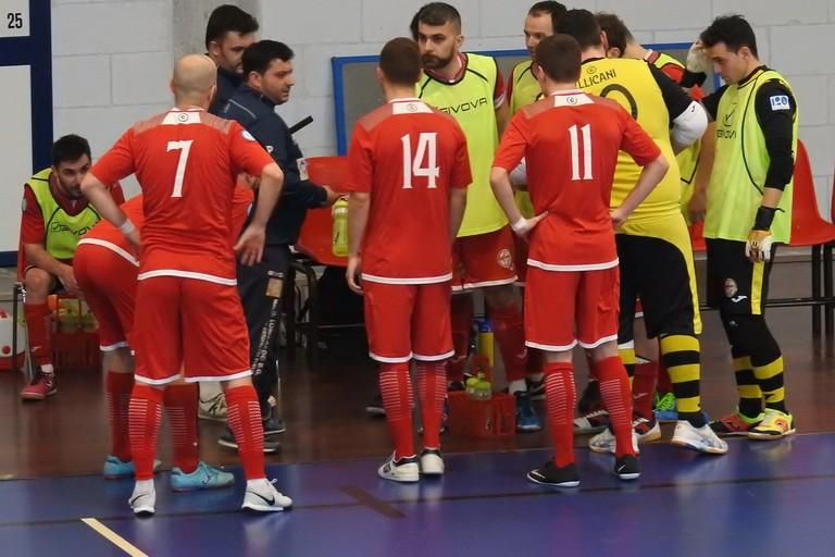 Un timeout del Futsal Ruvo