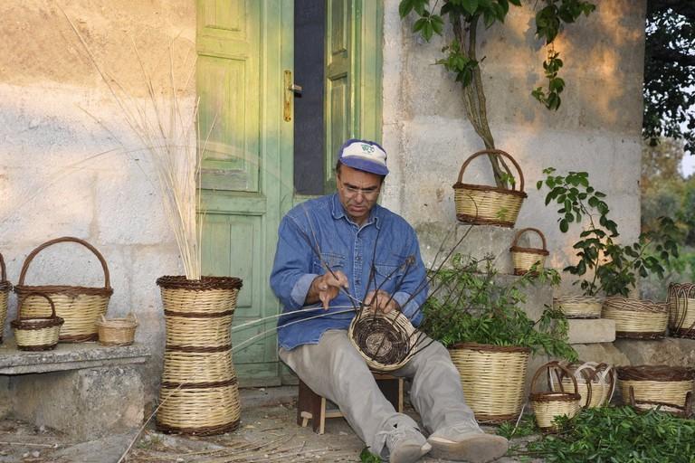 Il cestaio Antimo Calò