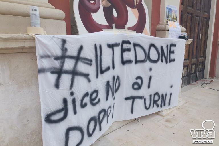 Protesta studenti Tedone