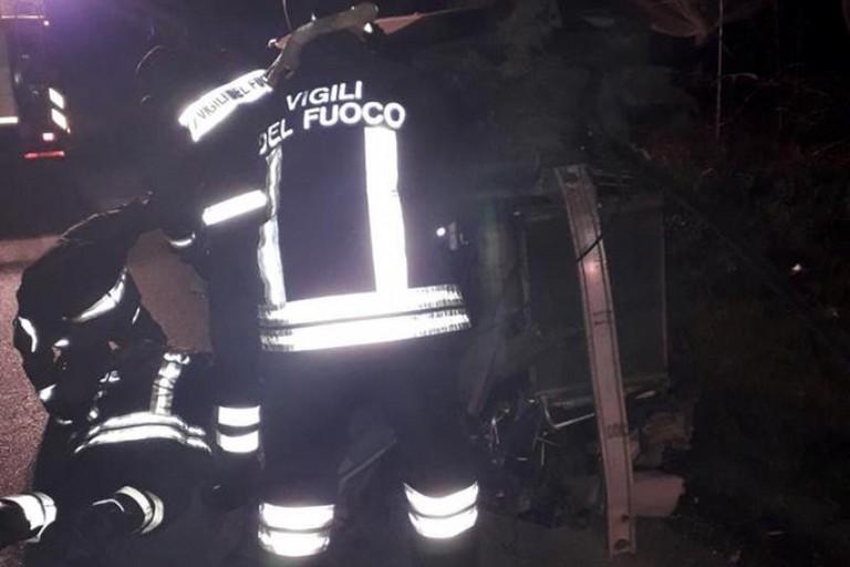 Incidente (Foto Metronotte Ruvo di Puglia)