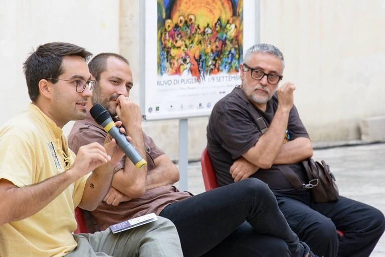Livio e Pino Minafra e Giulio De Leo. <span>Foto Cinzia Cantatore</span>