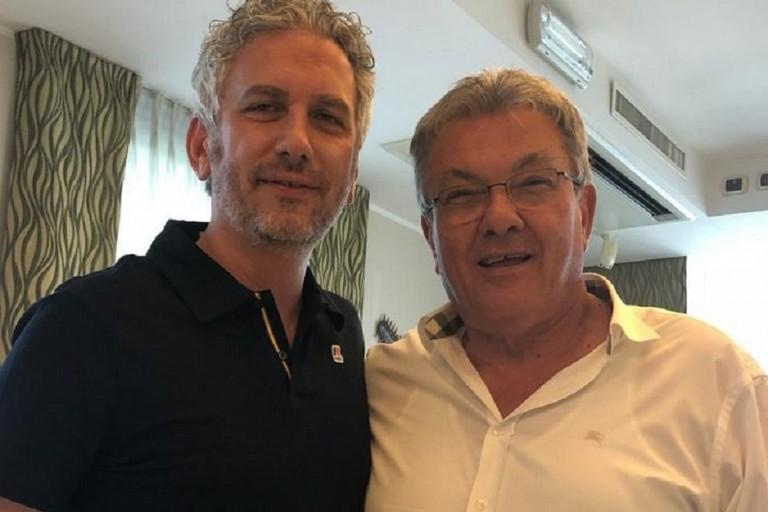 Max Bellarte col presidente dell'Acqua e sapone Barbarossa