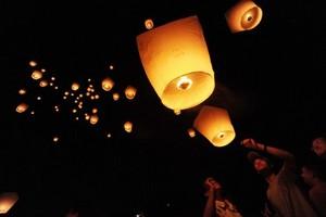 Capodanno, lanterne