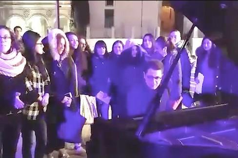 Il pianoforte nella piazza di Ruvo