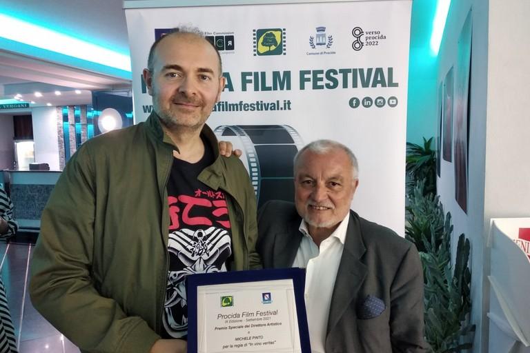 Michele Pinto col direttore Francesco Bellofatto