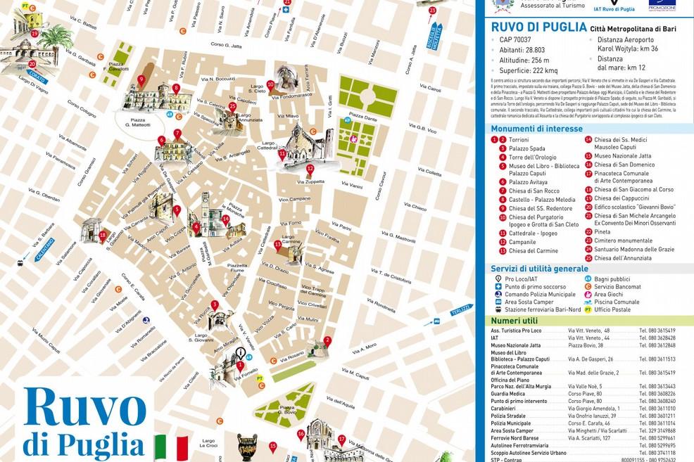 Ruvo Di Puglia Cartina.Una Mappa Per Il Centro Storico Di Ruvo