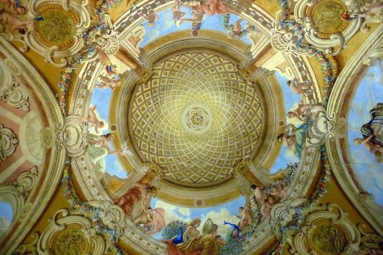 Salone principale di Palazzo Camerino in Ruvo di Puglia (Foto Mario Di Puppo)